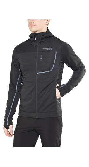 Norrøna bitihorn Powerstretch Zip-Hood Men Caviar